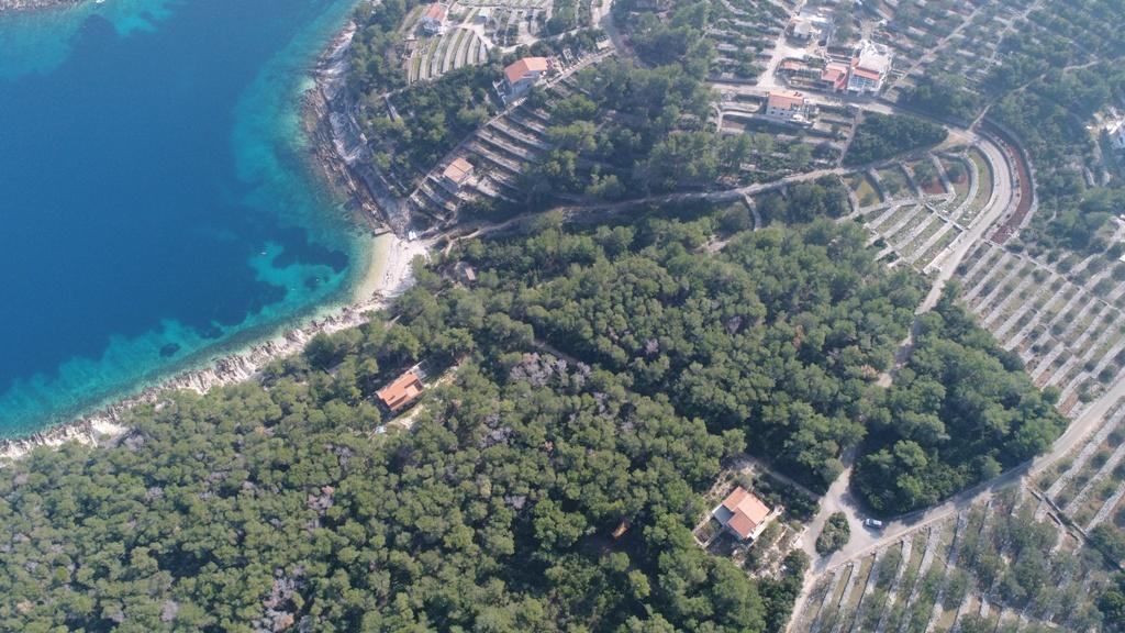 Luxus immobilien Dalmatien Farkaš, zu verkaufen, bau land, erster Reihe zum Meer, insel Korčula, 1.