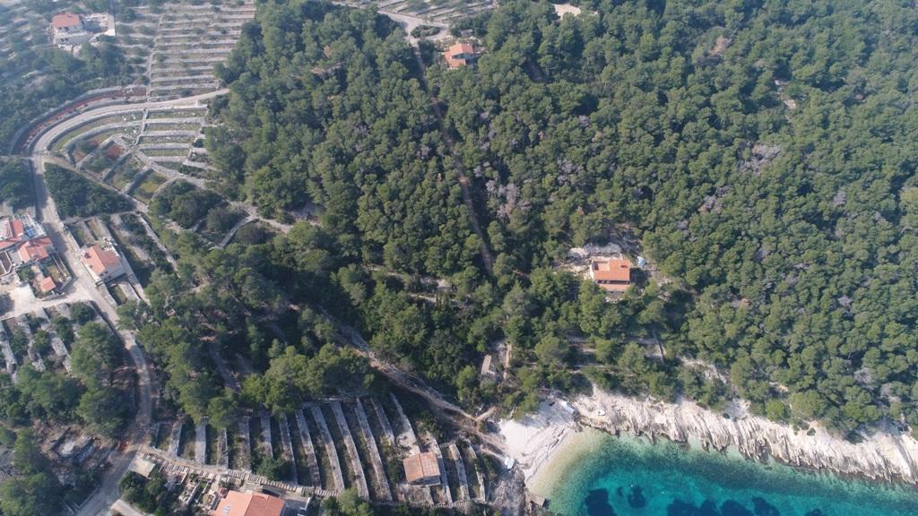 Luxus immobilien Dalmatien Farkaš, zu verkaufen, bau land, erster Reihe zum Meer, insel Korčula, 4.
