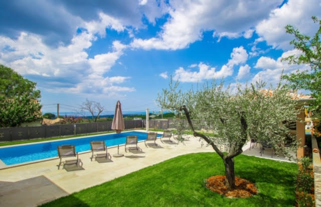 Luxusvillen Kroatien, Istrien, Farkaš, zu verkaufen, villa mit pool, Kaštelir, 4