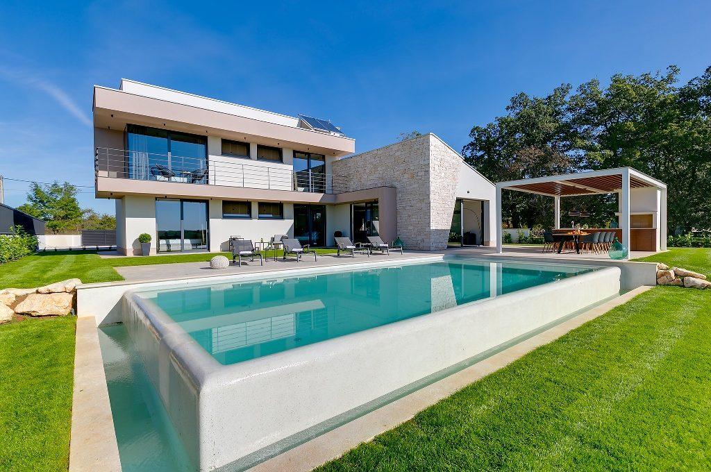 Villen istrien Kroatien Farkaš, zu verkaufen, villa mit pool, Višnjan, 1