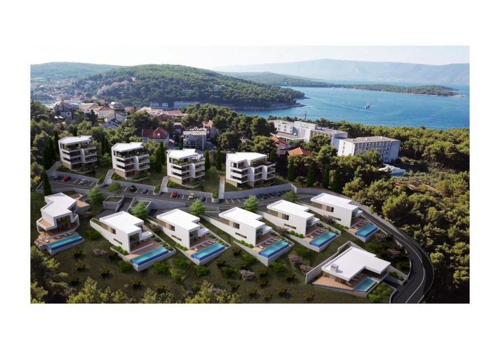 Luxus-villen Dalmatien Farkaš, zu verkaufen, projekt am meer, insel hvar, 4