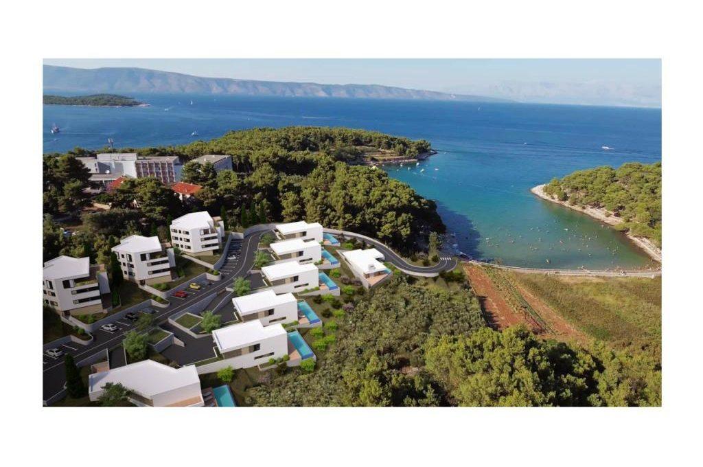 Luxus-villen Dalmatien Farkaš, zu verkaufen, projekt am meer, insel hvar, 5