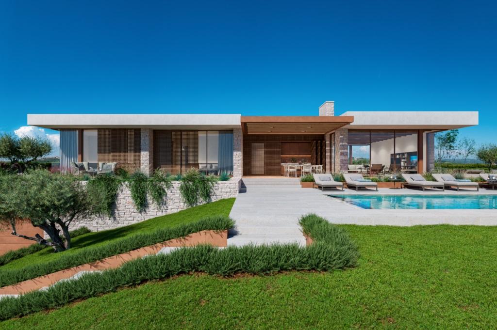 Immobilienagentur Istrien Farkaš, zu verkaufen, neue villa mit pool, Brtonigla