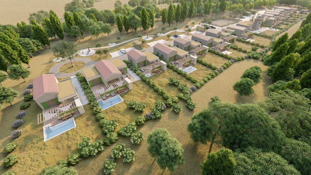 Luxury real estate Farkaš, for sale, beautiful land with project, rakalj, pula, istria, croatia
