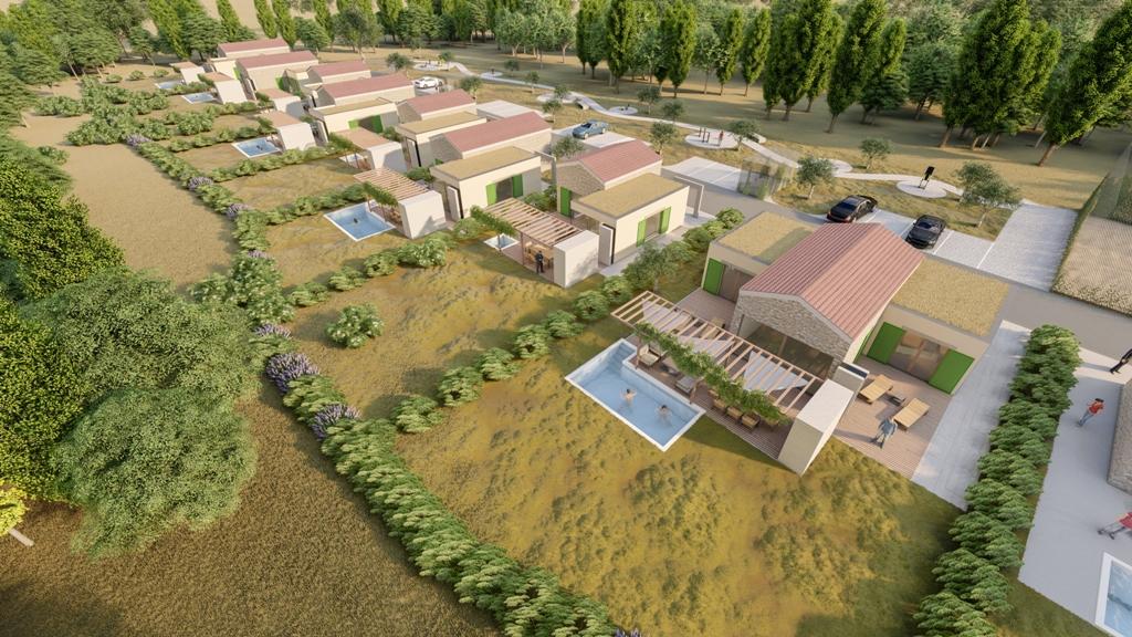 Luxus immobilie Farkaš, zu verkaufen, schöness land mit projekt, rakalj, pula, istrien, kroatien, 3