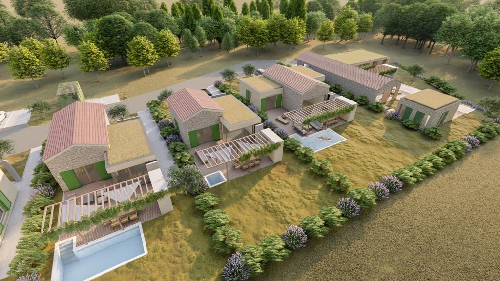 Luxus immobilie Farkaš, zu verkaufen, schöness land mit projekt, rakalj, pula, istrien, kroatien, 8
