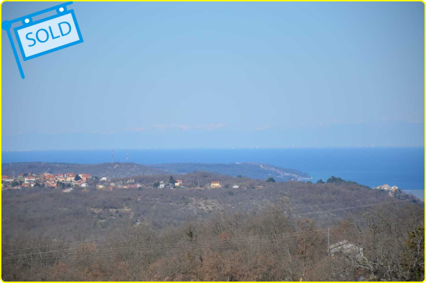 Luxury real estate Istria Farkaš is selling building land with a beautiful sea view, Momjan