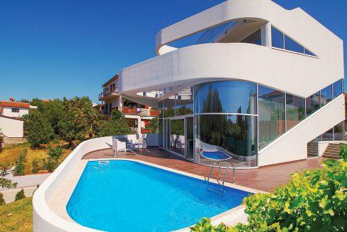 Villas by the sea Istria for sale Farkaš, modern luxury villa by the sea, Pula, 3