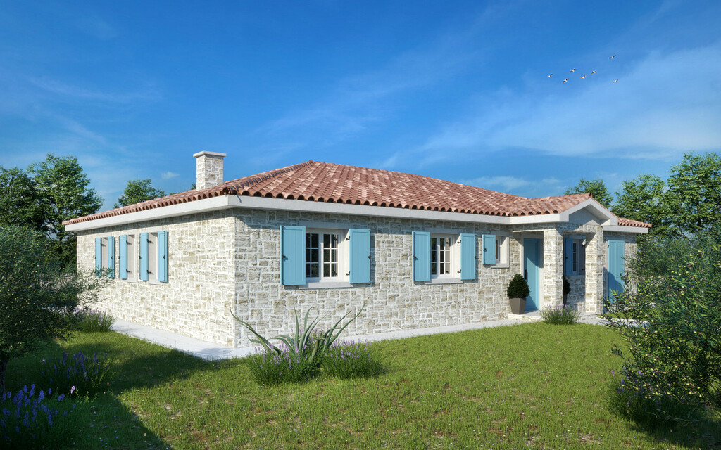 For sale, new ground floor stone house, Tinjan, 1