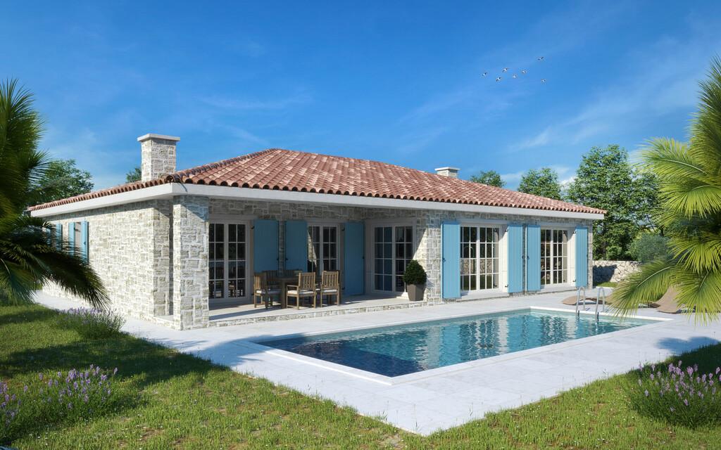 For sale, new ground floor stone house, Tinjan, 3