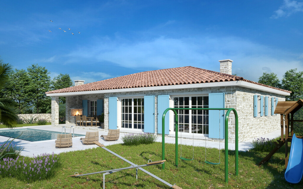 For sale, new ground floor stone house, Tinjan, 4
