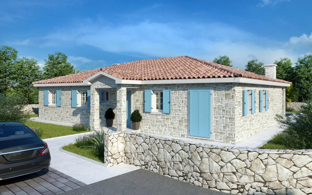 For sale, new ground floor stone house, Tinjan, 5