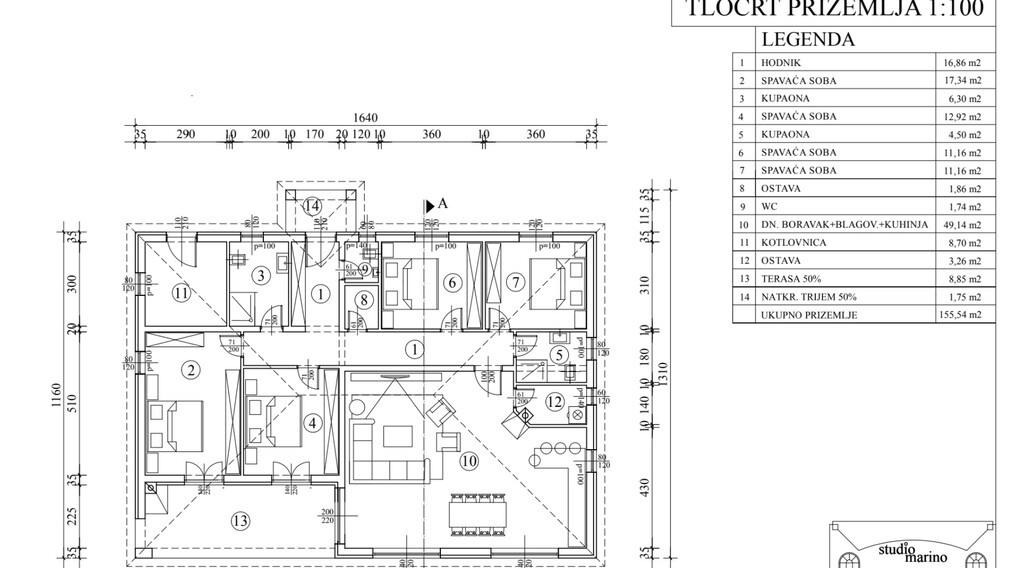 For sale, new ground floor stone house, Tinjan, 7