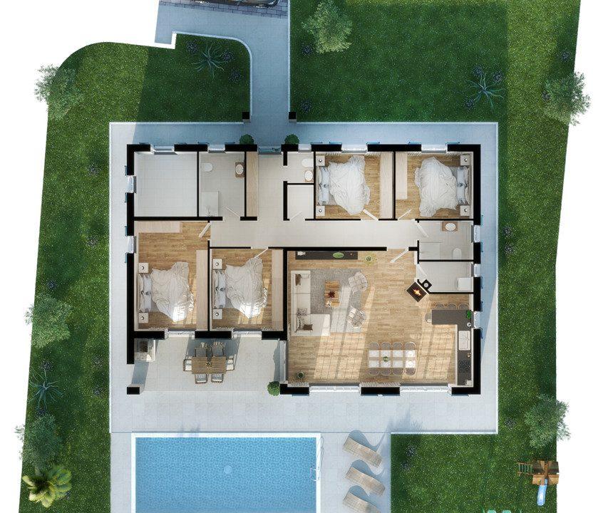 For sale, new ground floor stone house, Tinjan, 8