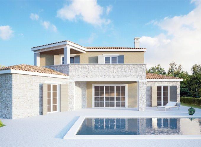 Villa in construction for sale near Tinjan