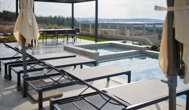 Villen istrien kaufen, Luxusimmobilien Farkaš, Neue Villa mit pool neben Višnjan, 6