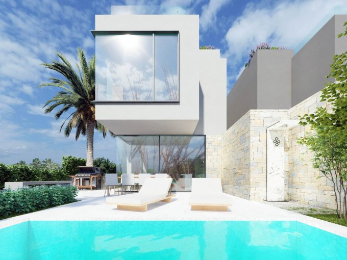 Beautiful new villas with pool for sale, 800 m from the sea, Porec