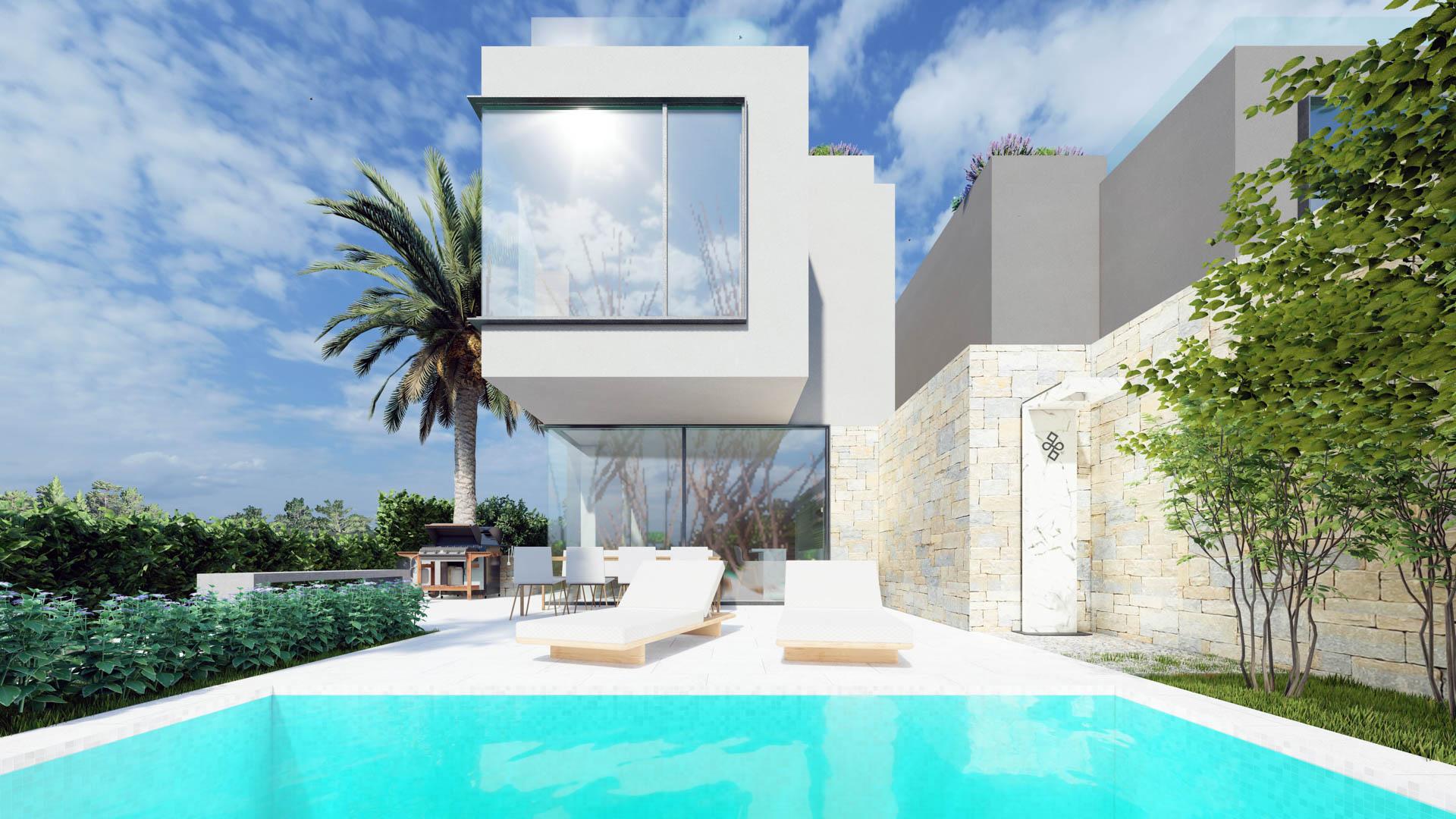 Schöne Villen mit Pool zu verkaufen, 800 m vom Meer entfernt, Porec